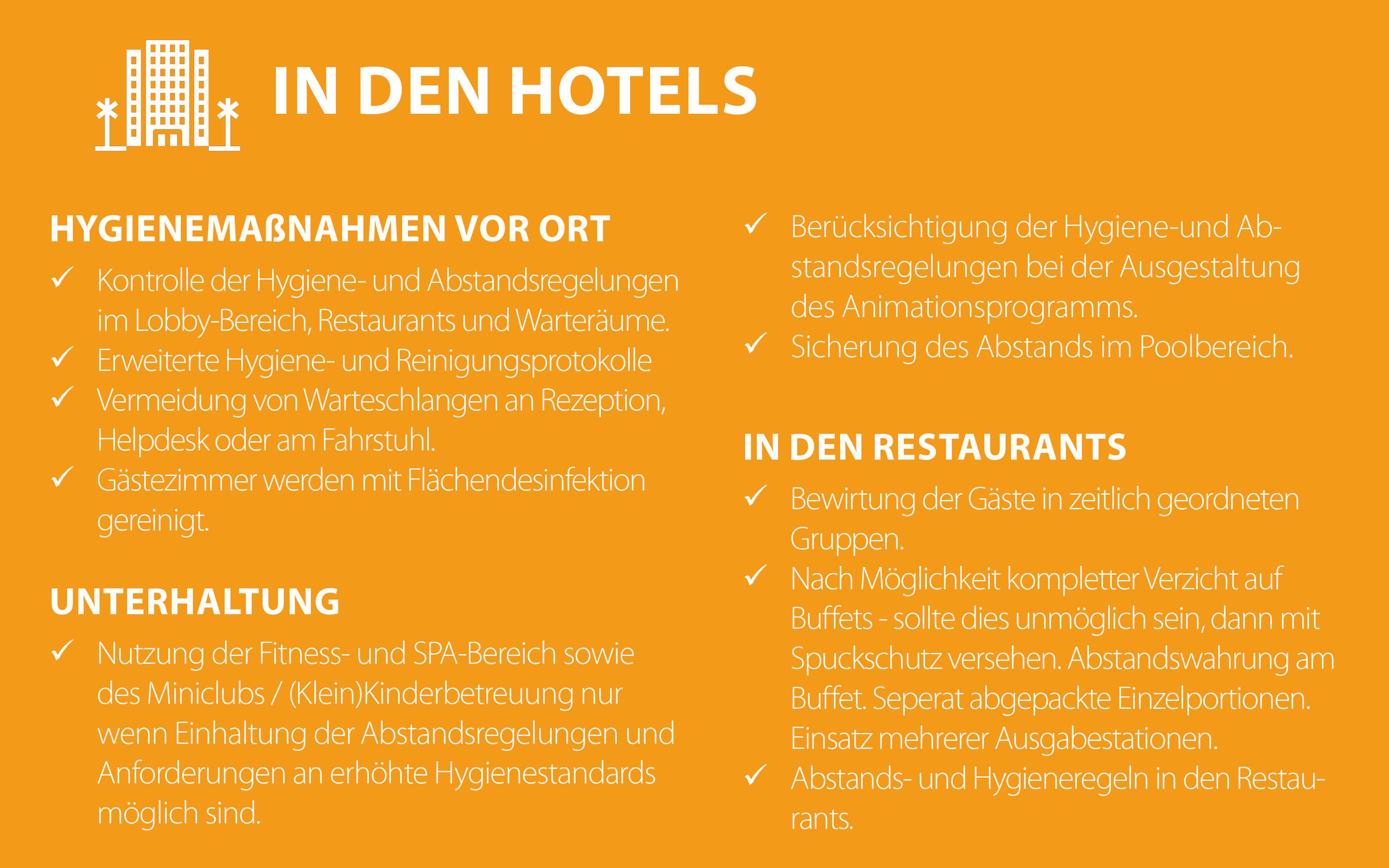 Tipp 3 für Hygienemaßnahmen in den Hotels im Urlaub mit ETI