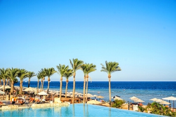 Strand der Red Sea Hotels in der Makadi Bay am Roten Meer