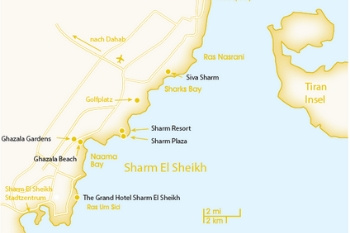 Karte von den Red Sea Hotels in Sharm El Sheikh