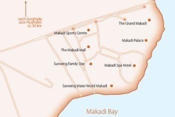 Karte von den Red Sea Hotels in der Makadi Bucht