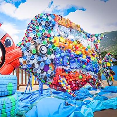 Fisch aus Plastimüll