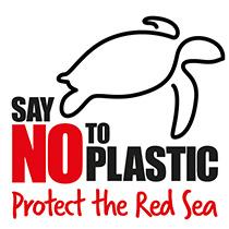 Logo von Say no to Plastic zum Schutz des Roten Meeres